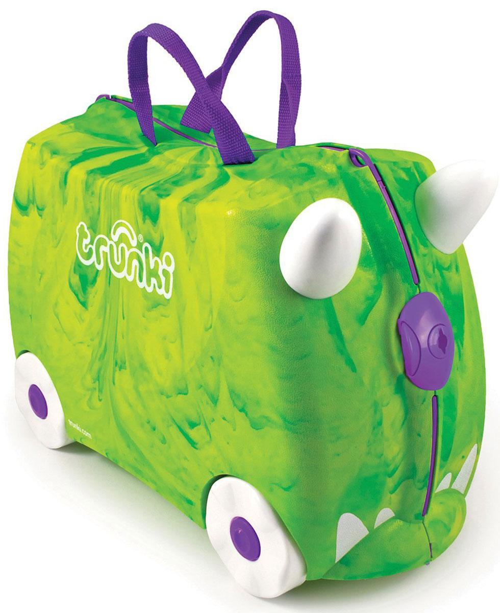 Trunki Чемодан-каталка Динозавр детские чемоданы trunki детская каталка чемодан taxi tony тони таксист
