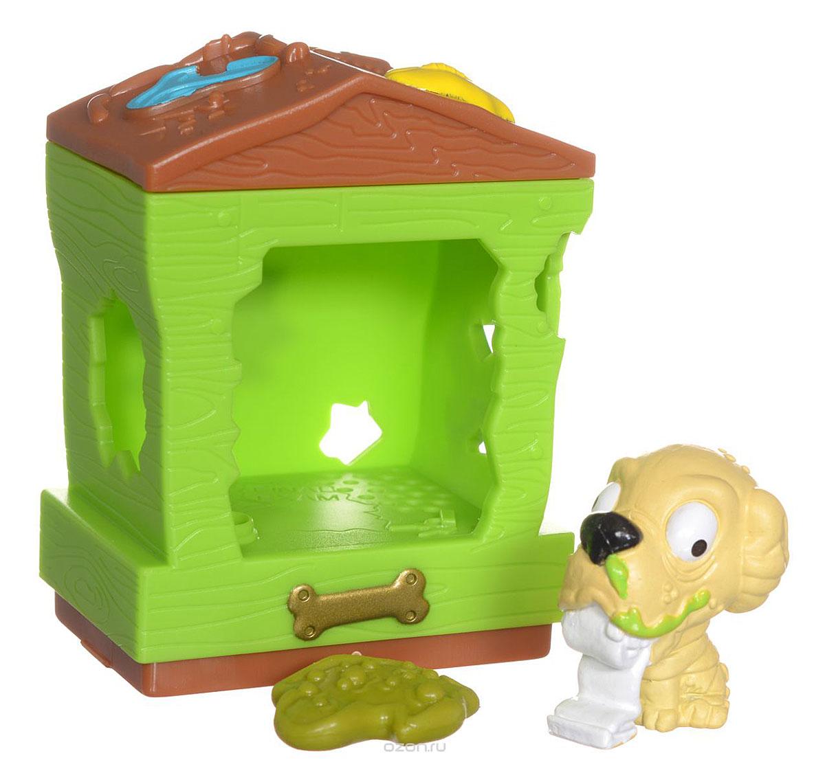Ugglys Pet Shop Игровой набор Домик с фигуркой Doggy DumpSV3446Игровой набор из серии Хулиганские животные состоит из салатового домика со звуковыми эффектами и уникальной фигурки питомца-собачки, которую нельзя найти в других упаковках и наборах серии. Домик выполнен в ярких цветах и притягивает взгляд. Если внутри него поместить мини-фигурку животного и надавить на пол - будут раздаваться звуки. В ассортименте представлено 6 домиков, которые можно состыковать один с другим и построить большой зоомагазин с эксклюзивными животными. Такая удивительная игрушка обязательно понравится вашей малышке! Порадуйте ее таким замечательным подарком! Для работы требуются 2 батарейки типа LR44 (комплектуется демонстрационными).