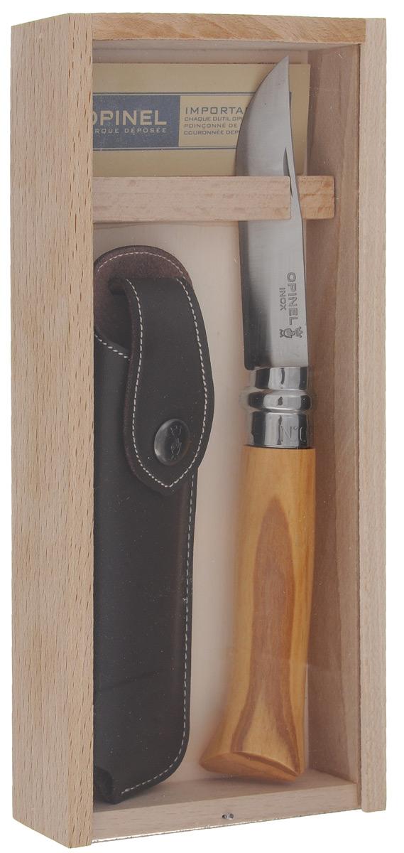 Нож Opinel No 8, с чехлом, длина лезвия 8,5 см