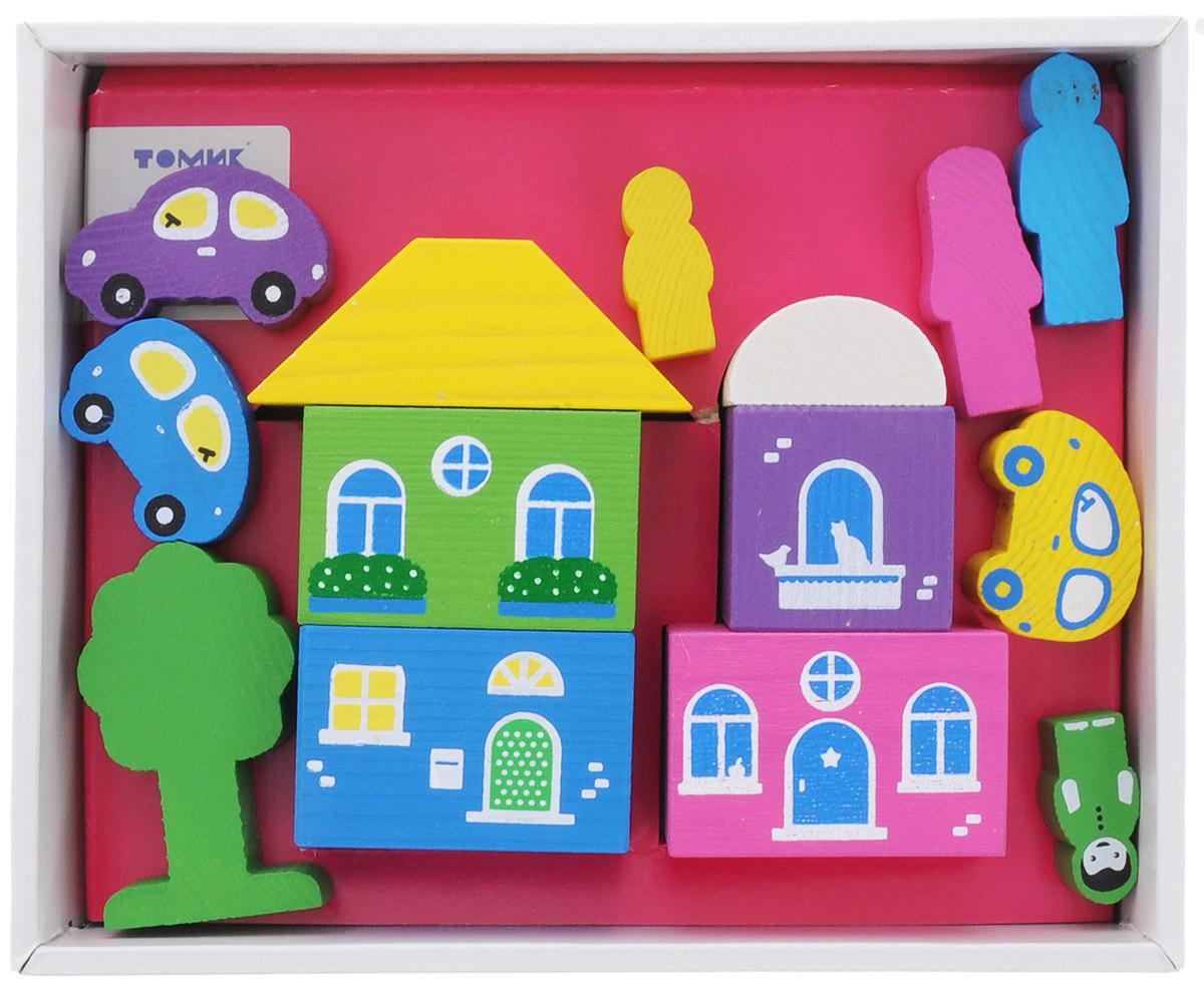 Томик Конструктор Цветной городок цвет розовый конструктор для малышей томик веселый городок
