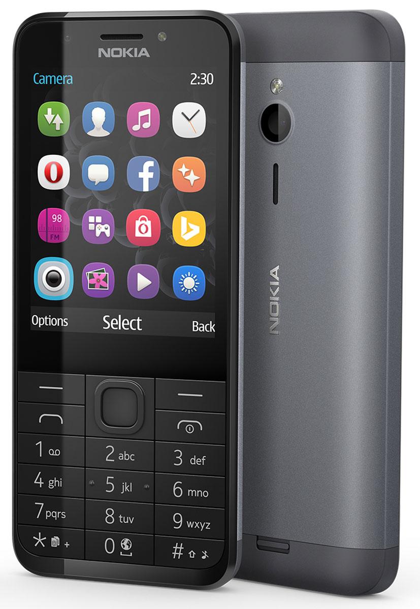 6999fb84595d3 Мобильный телефон Nokia 230 Dual Sim, черный, серебристый — купить в  интернет-магазине OZON с быстрой доставкой