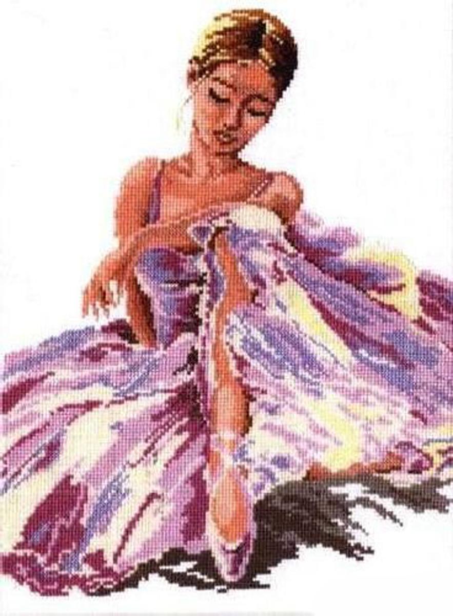 Набор для вышивания крестом Чудесная игла Балерина, 24 х 30 см набор для вышивания крестом чудесная игла у самовара 34 х 40 см