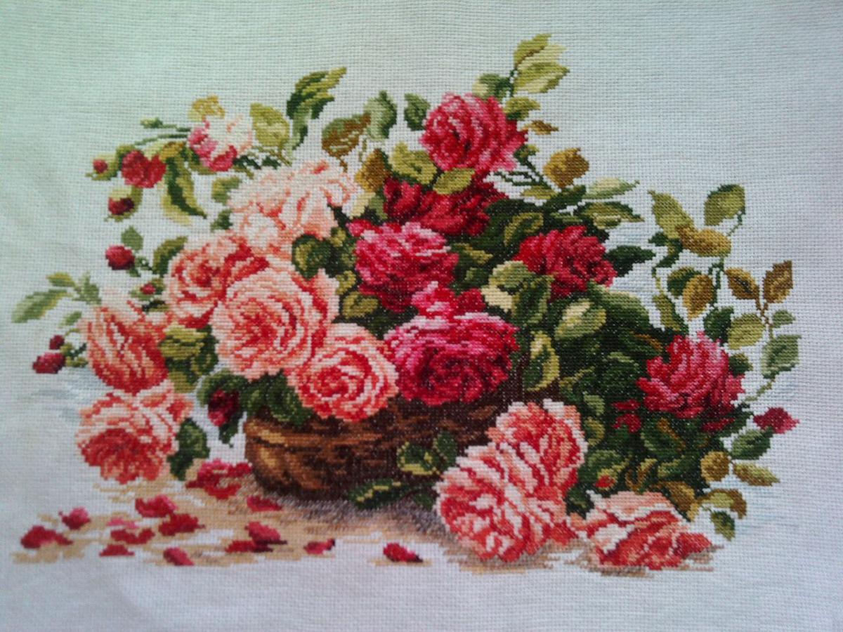 Набор для вышивания крестом Чудесная игла Королевские розы, 38 х 28 см набор для вышивания крестом hobby