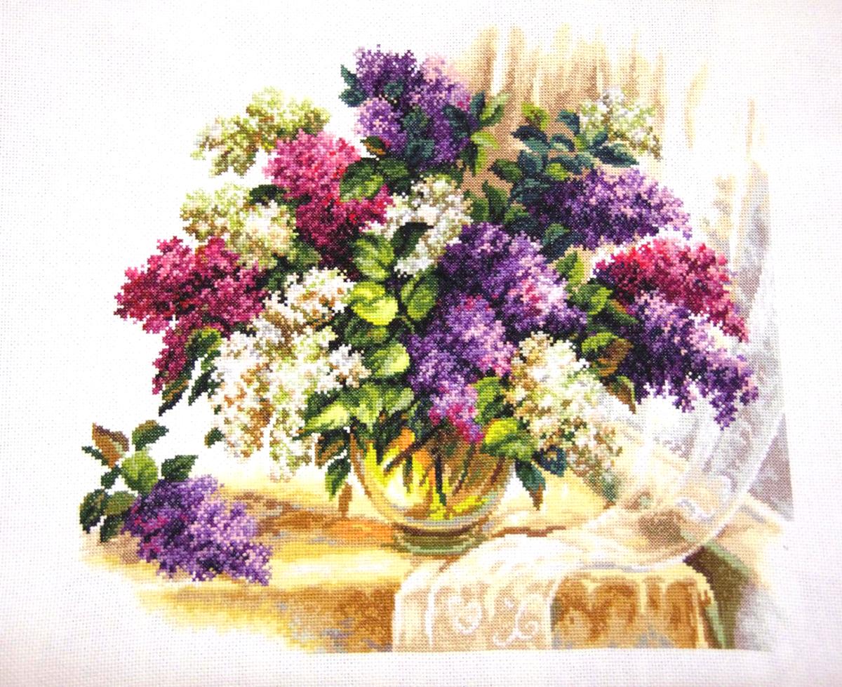 Набор для вышивания крестом Чудесная игла Аромат сирени, 40 х 37 см набор для вышивания крестом чудесная игла цветочный чай 35 х 40 см