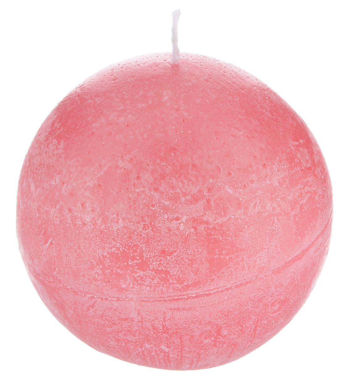 Свеча декоративная Proffi Шар, цвет: красный, диаметр 8,5 см свеча декоративная proffi шар цвет белый диаметр 7 5 см