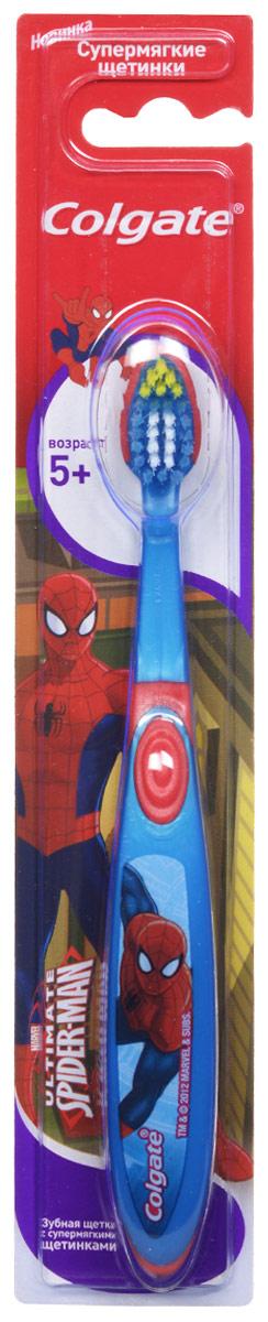 Colgate Зубная щетка Spider-man, детская, с мягкой щетиной, от 5 лет, цвет: синий, красный colgate зубная щетка spider man детская с мягкой щетиной цвет синий красный page 2