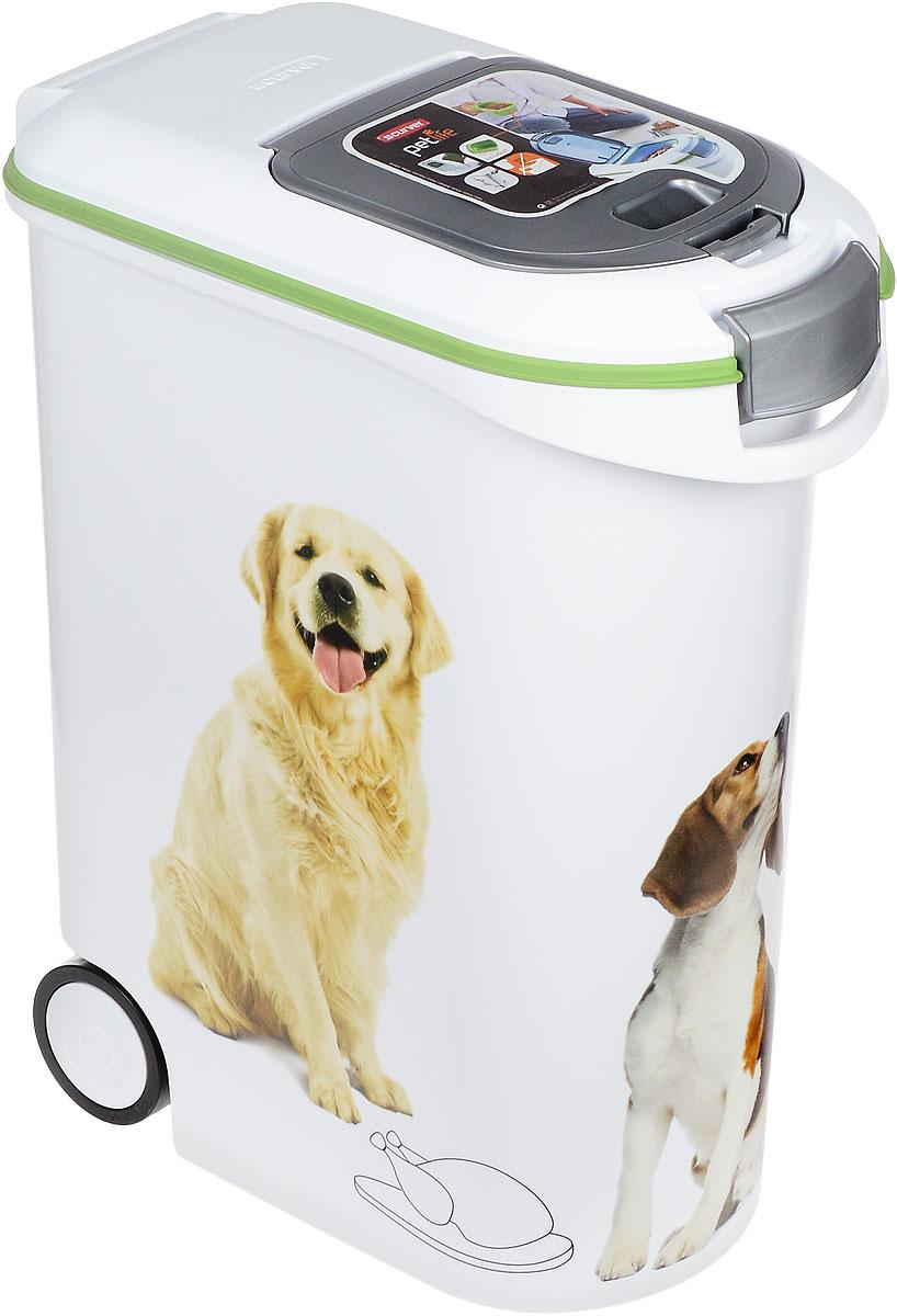 """Контейнер Curver """"Pet Life"""" для хранения сухого корма, с колесами и ковшиком, 54 л"""