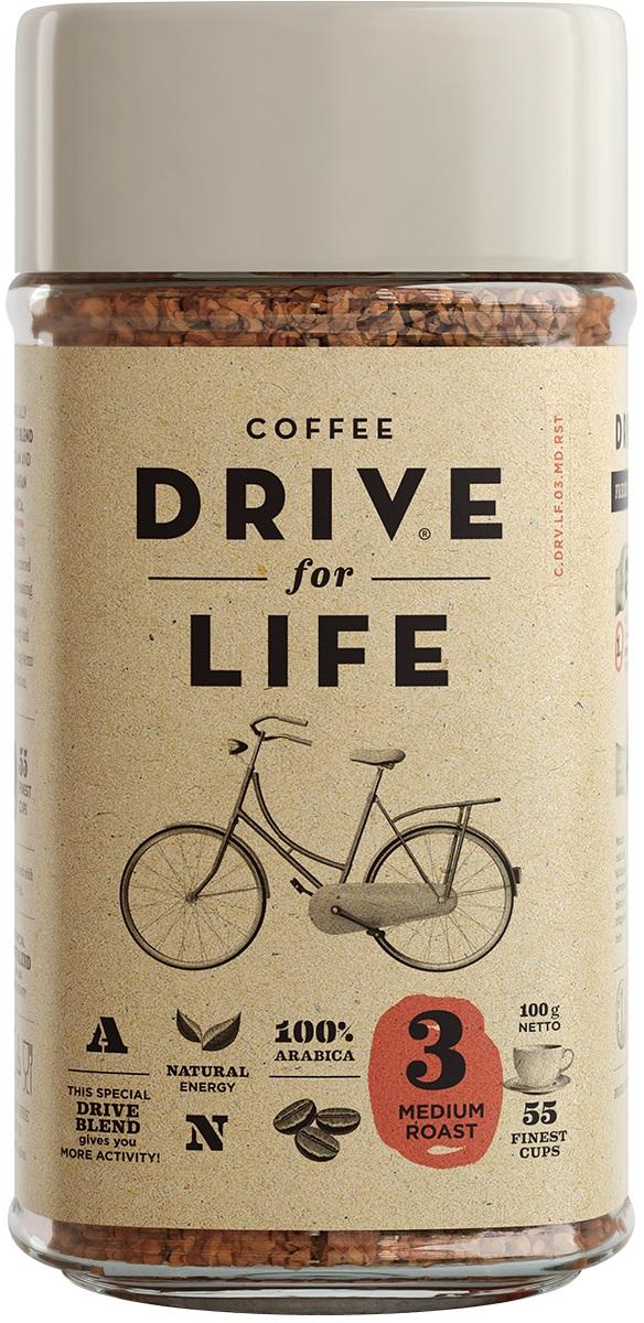 Drive for Life Medium кофе сублимированный, 100 г drive for life extra strong кофе сублимированный 150 г