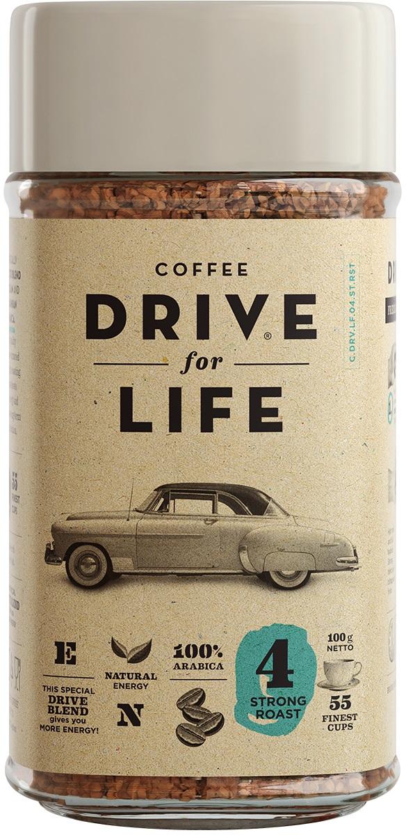 Drive for Life Strong кофе сублимированный, 100 г drive for life extra strong кофе сублимированный 150 г