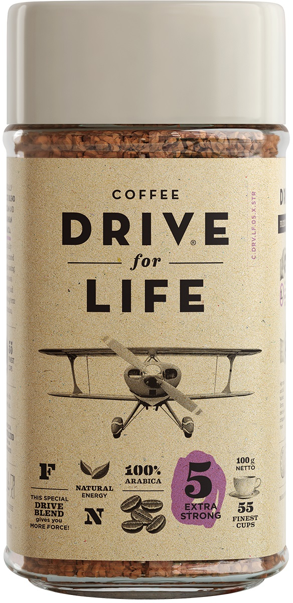 Drive for Life Extra Strong кофе сублимированный, 100 г drive for life extra strong кофе сублимированный 150 г