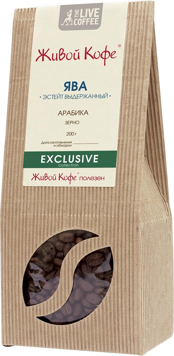 Живой Кофе Ява Эстейт Выдержанный кофе в зернах, 200 г живой кофе rio rio кофе в зернах 200 г