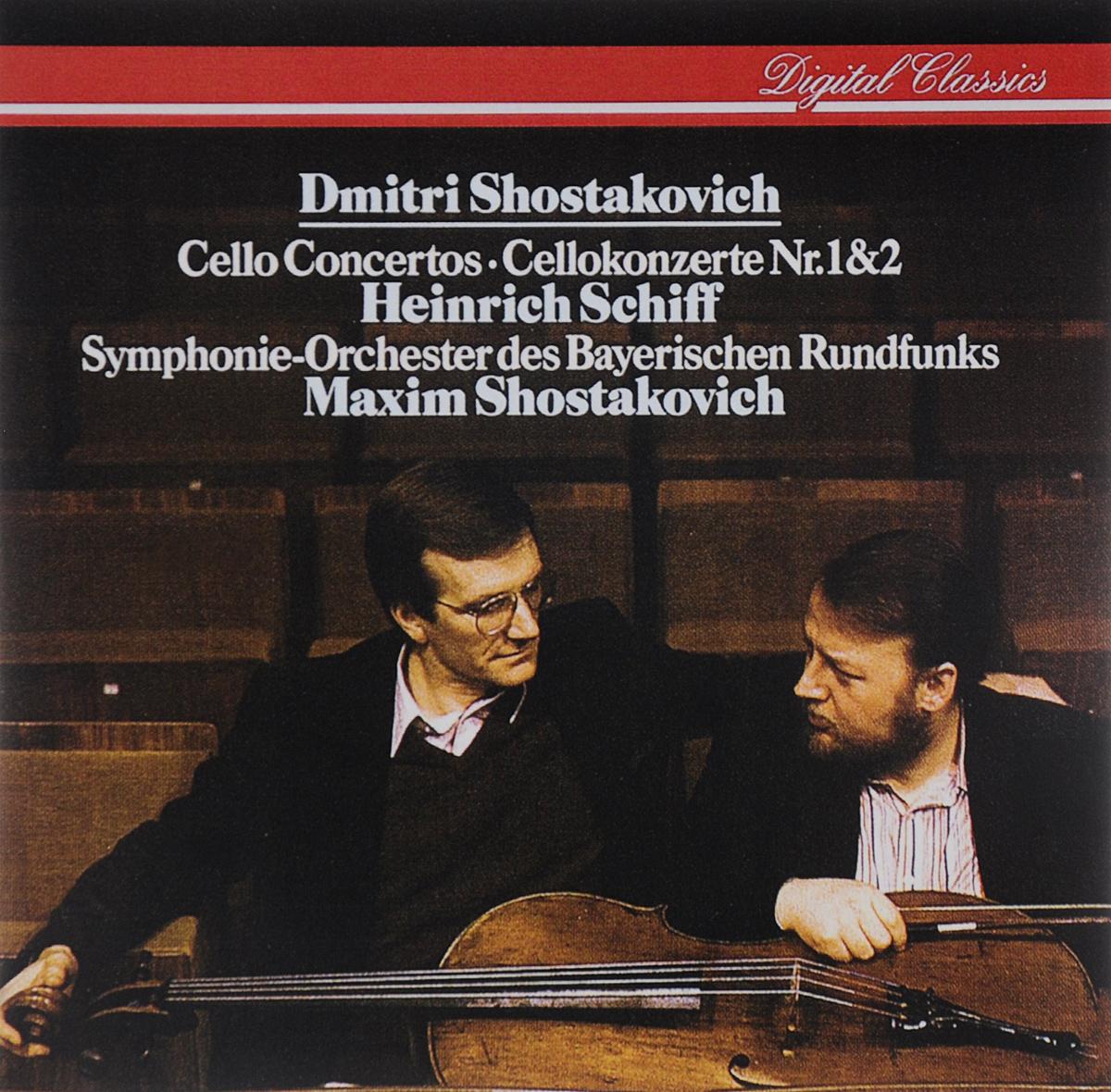 Генрих Шифф,Максим Шостакович,Symphonie-Orchester Des Bayerischen Rundfunks Heinrich Schiff. Maxim Shostakovich. Dmitri Shostakovich. Cello Concertos Nr. 1 & 2