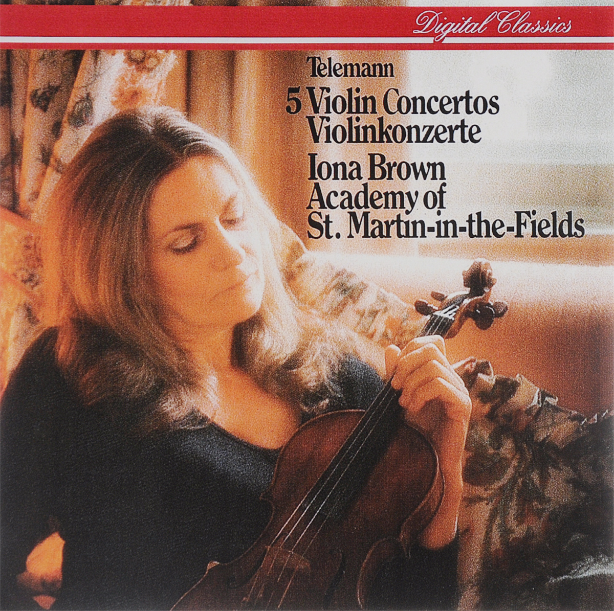 Иона Браун,Academy Of St. Martin In The Fields Iona Brown. Telemann. 5 Violin Concertos мюррей перайа academy of st martin in the fields murray perahia bach keyboard concertos nos 1 2