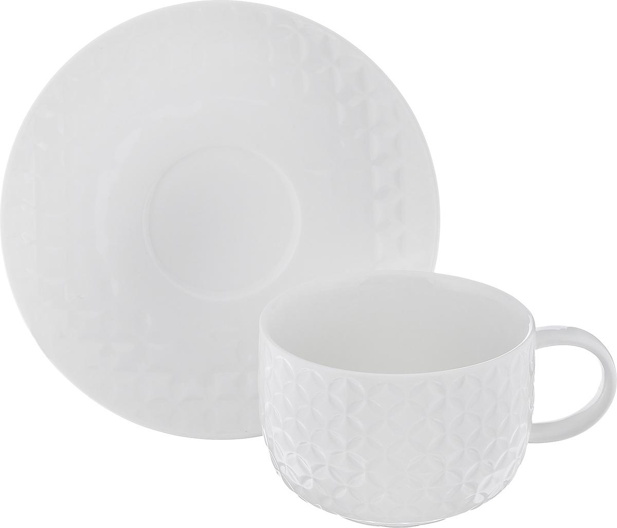 """Чайная пара Walmer """"Quincy"""", цвет: молочный, 2 предмета"""