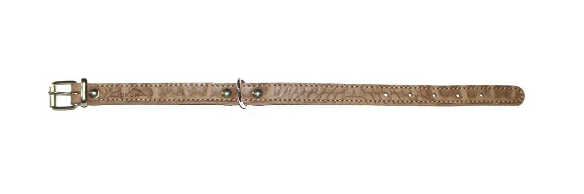 "Ошейник для собак Аркон ""Джунгли"", 16 мм, обхват шеи 26-34 см, цвет: коричневый. од16/1"