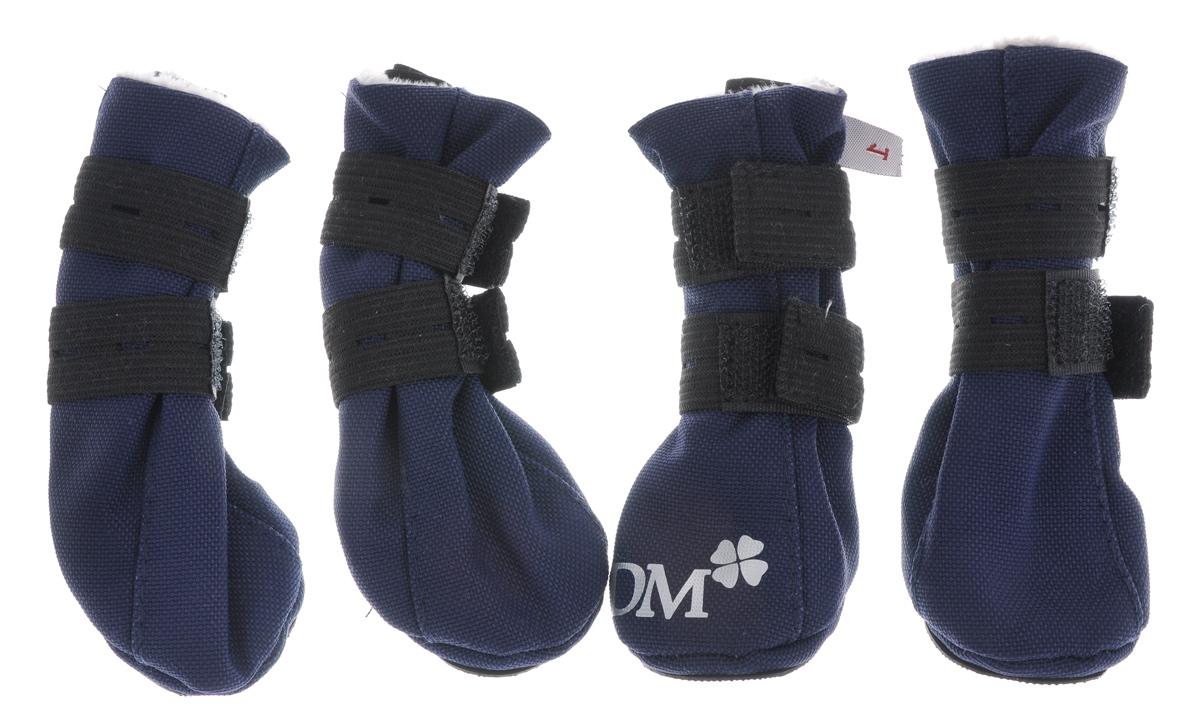 Сапожки для собак Dogmoda Комфорт, унисекс, цвет: черный. Размер 4 (XL) сапоги для собак dogmoda сапожки коричневые размер полиэстер коричневый 2