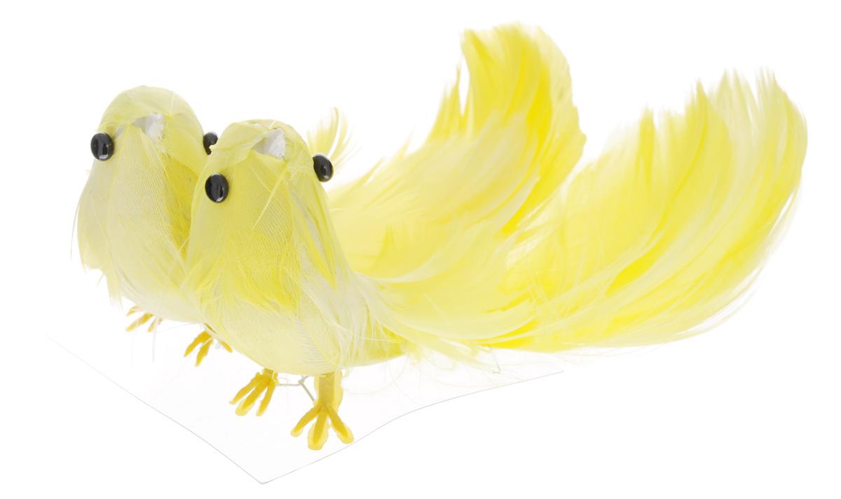Украшение декоративное ScrapBerry's Птички с акриловыми камушками, длина 10,5 см, 2 шт украшение декоративное village people тропическая бабочка с магнитом в ассортименте 11 5 х 9 х 5 см 2 шт 69028