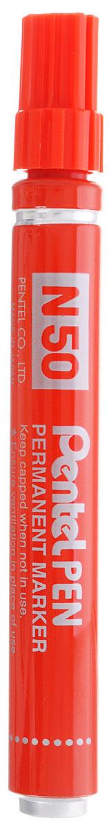 Pentel Маркер перманентный Pen N50 цвет красный calligrata маркер перманентный 1104 цвет красный