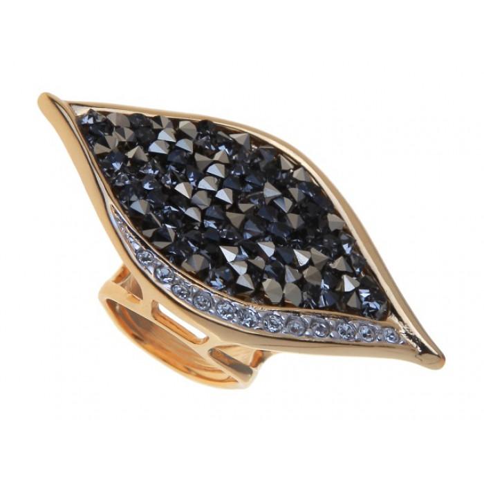 Кольцо Jenavi Ангелика, цвет: золотой, серый. j334q066. Размер 16 кольцо женское jenavi линия судьбы вейя цвет золотой r406p090 размер 16