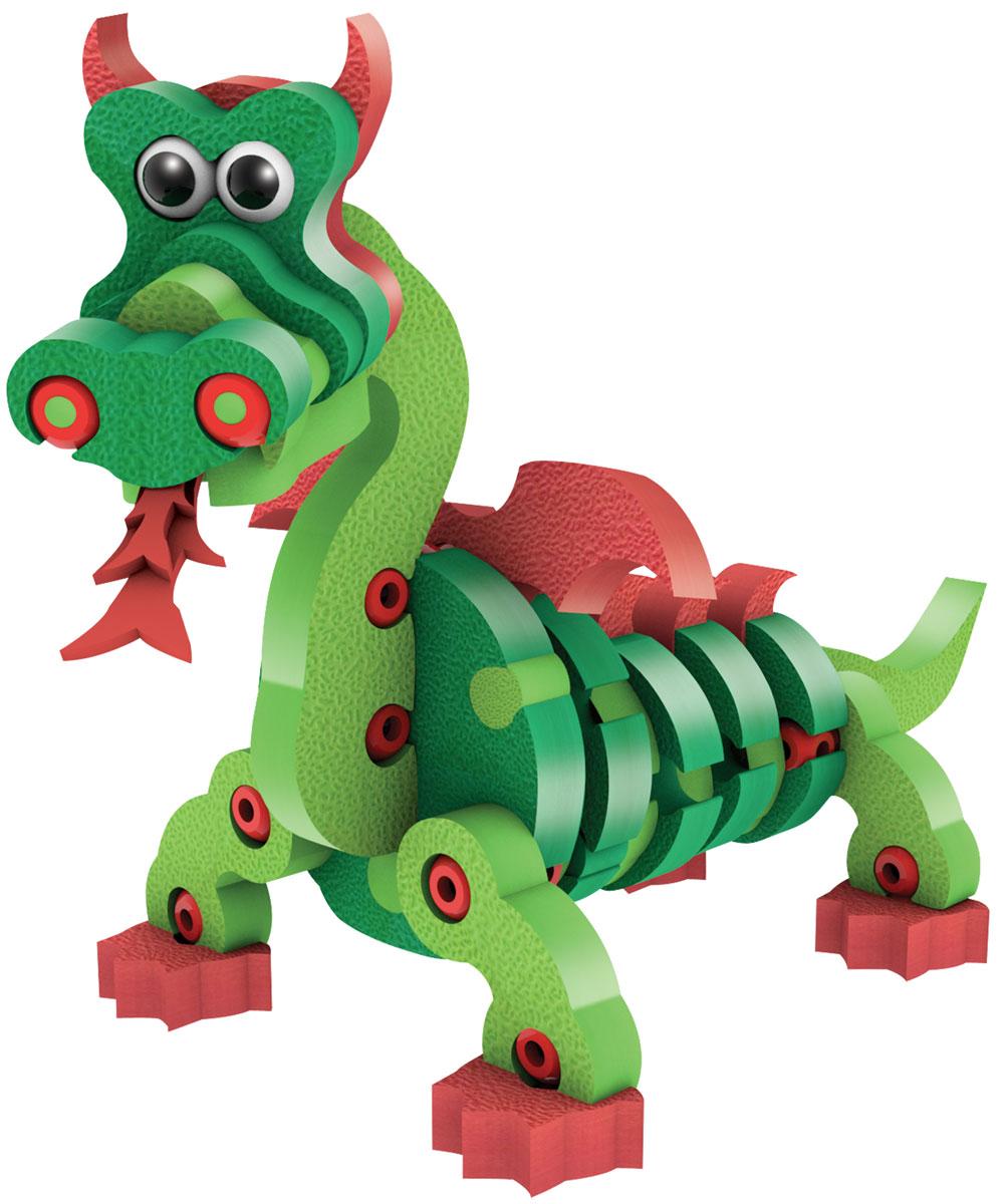 Bebelot 3D мягкий конструктор Дракон и рептилии 12 в 1