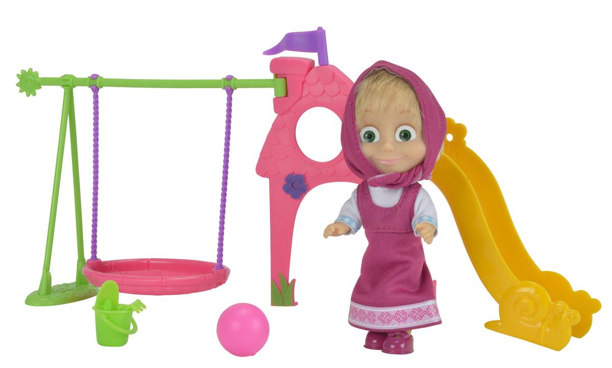 Simba Игровой набор Маша с детской игровой площадкой