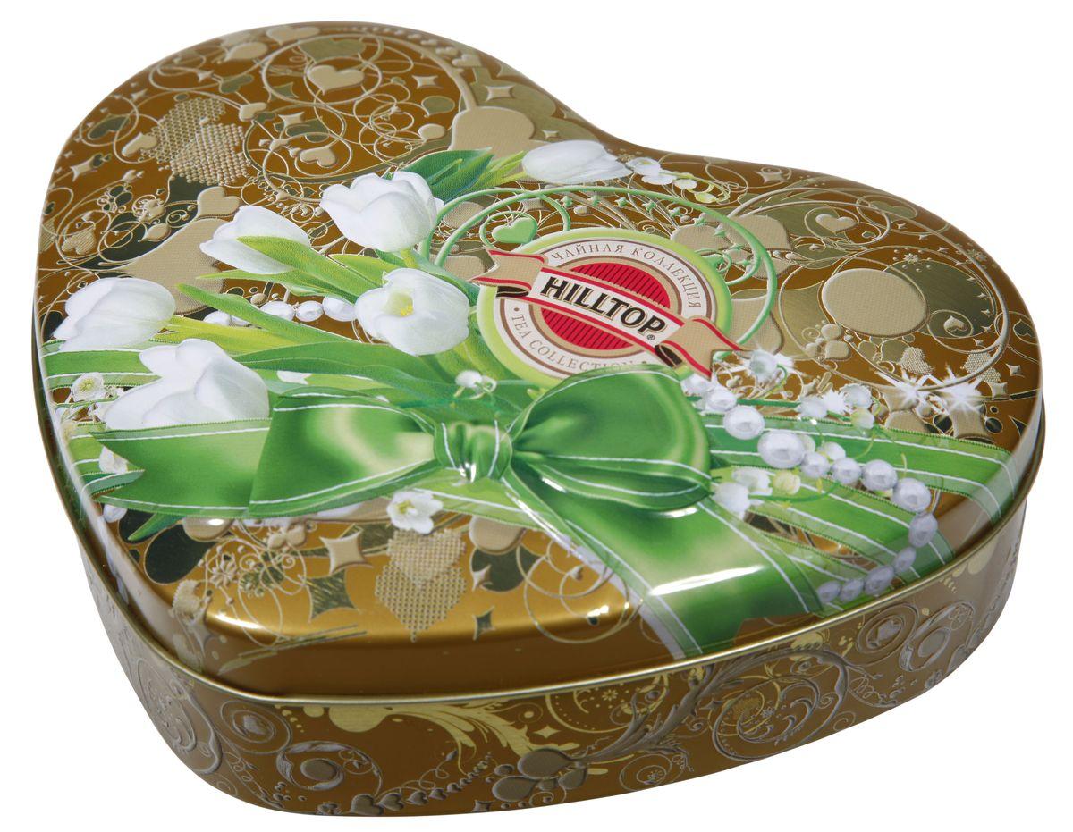 Hilltop Белые тюльпаны Королевское золото черный листовой чай, 100 г hilltop утреннее чаепитие черный листовой чай королевское золото в футляре 80 г