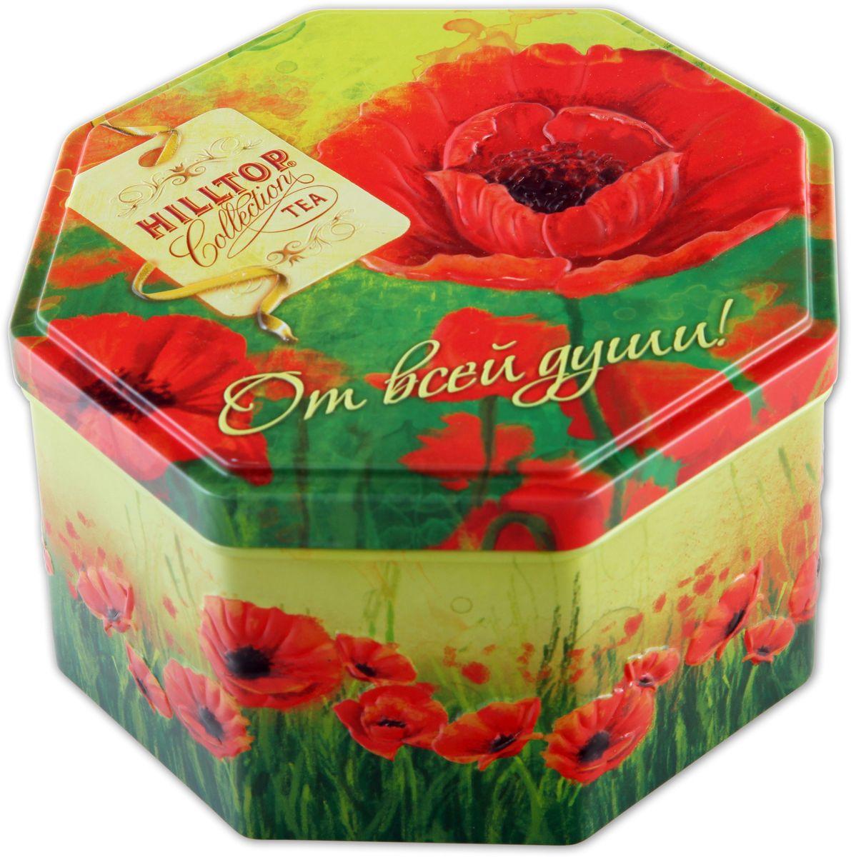 Hilltop Подарок Цейлона. Маков цвет черный листовой чай, 150 г hilltoр волшебный дед мороз чай черный листовой подарок цейлона 80 г