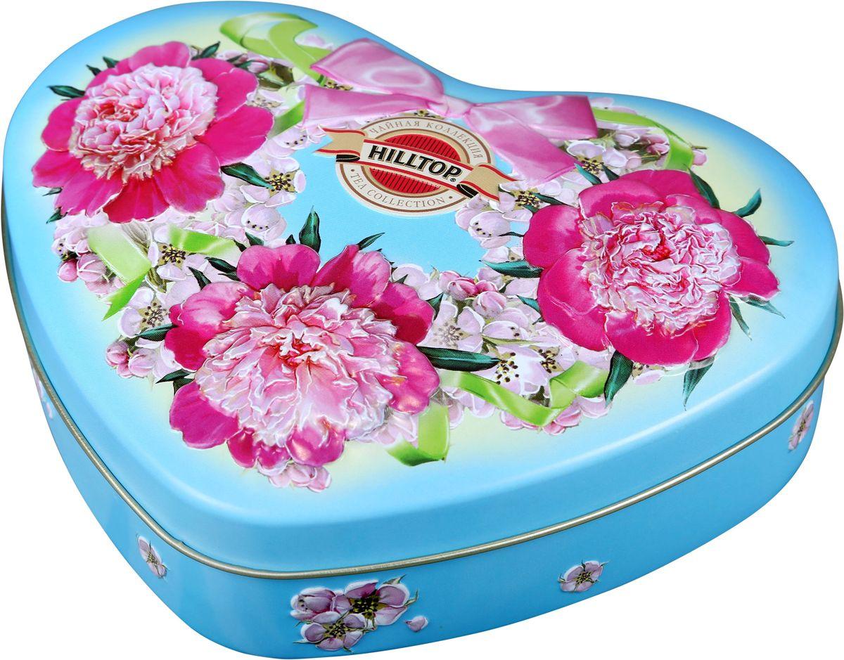Hilltop Розовые пионы Ворсистые пики зеленый листовой чай, 100 г цена и фото