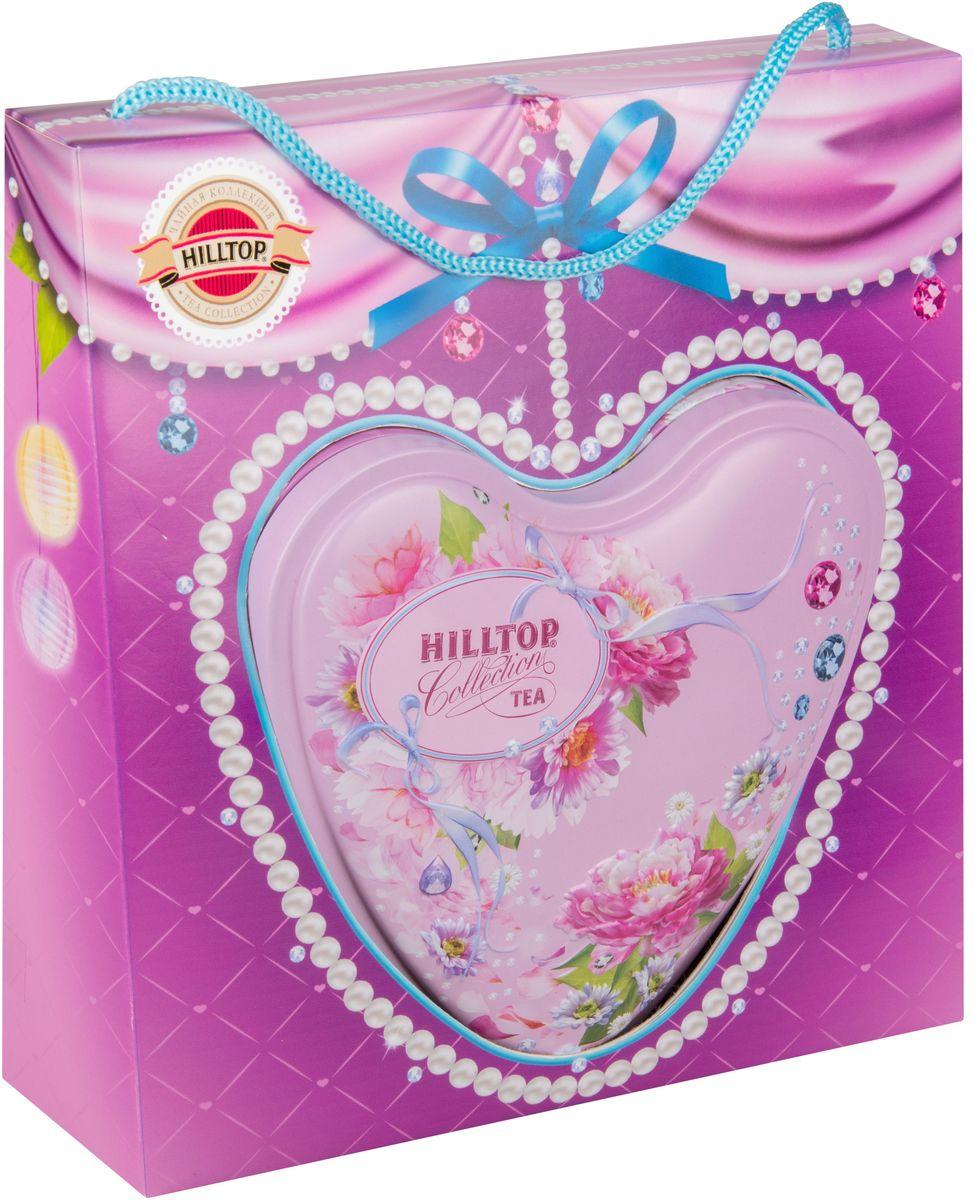 Hilltop Нежное признание Подарок Цейлона черный листовой чай, 80 г hilltoр волшебный дед мороз чай черный листовой подарок цейлона 80 г