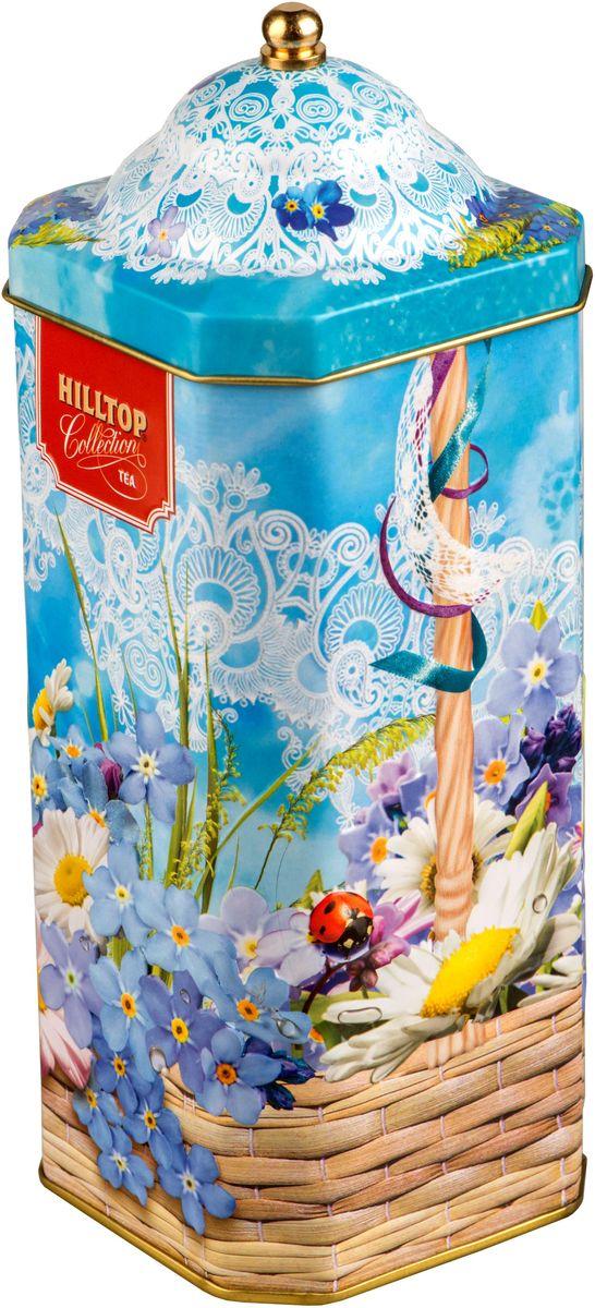 Hilltop Весенняя акварель. Цейлонский бриз черный листовой чай, 125 г