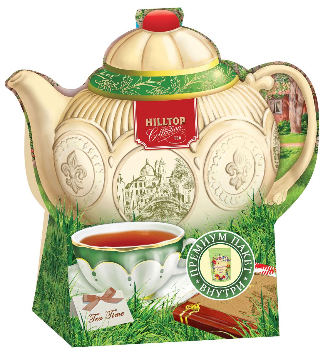 Hilltop Подарок Цейлона черный листовой чай, 80 г (чайник Английский) hilltoр волшебный дед мороз чай черный листовой подарок цейлона 80 г