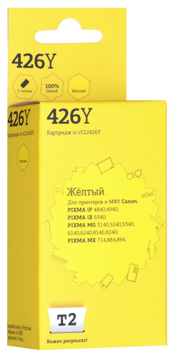 T2 IC-CCLI-426Y картридж (аналог CLI-426Y) для Canon PIXMA iP4840/MG5140/MG6140/MG8140/MX884, Yellow t2 ic ccli 426y
