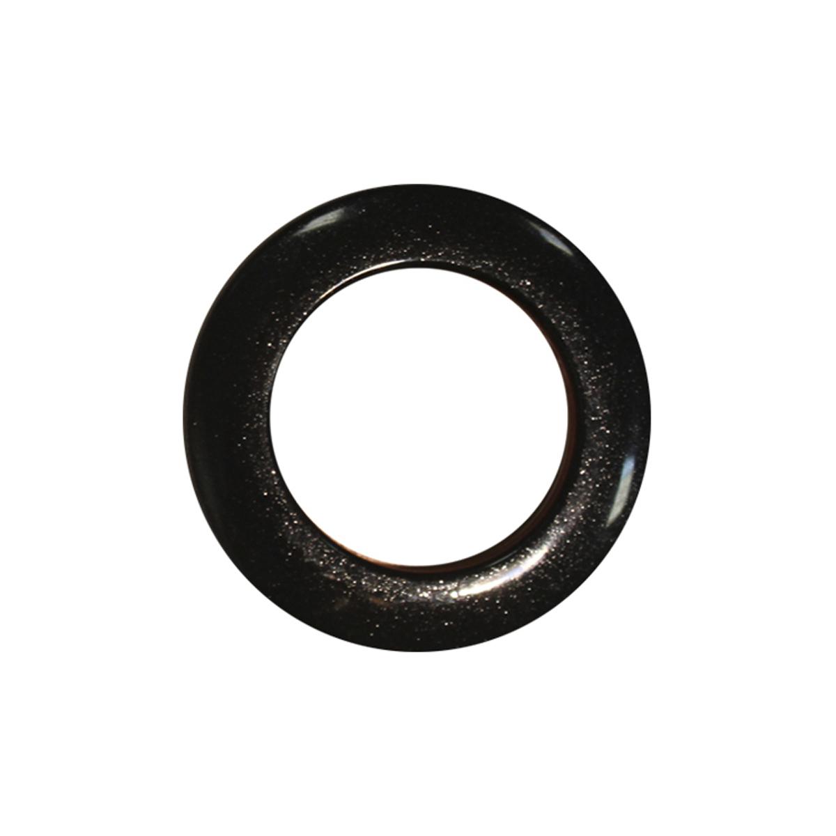 """Набор люверсов """"Алди"""", цвет: черный мрамор, диаметр 35 мм, 10 шт"""