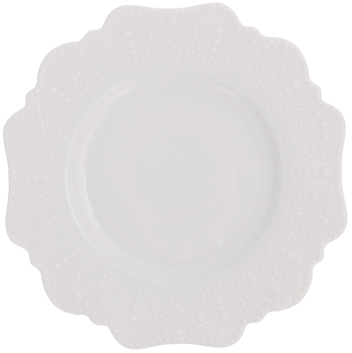 "Тарелка десертная Walmer ""Vivien"", цвет: белый, диаметр 21 см"
