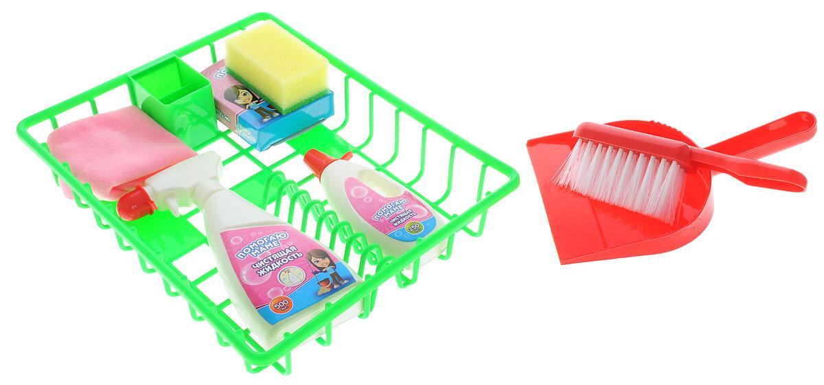 ABtoys Игровой набор Помогаю маме Генеральная уборка abtoys игровой набор abtoys помогаю маме швейная машинка с аксессуарами