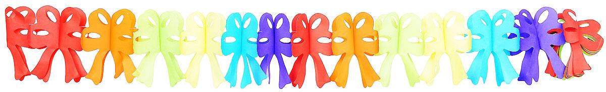 Action! Гирлянда праздничная БантыAPI0171Гирлянда праздничная Action! Банты представлена в виде разноцветных бантиков.Гирлянда легко и просто развешивается над потолком, создавая атмосферу волшебного праздника! Украшение выполнено из безопасных материалов, соответствующих европейским стандартам качества.Длина гирлянды: 4 метра.