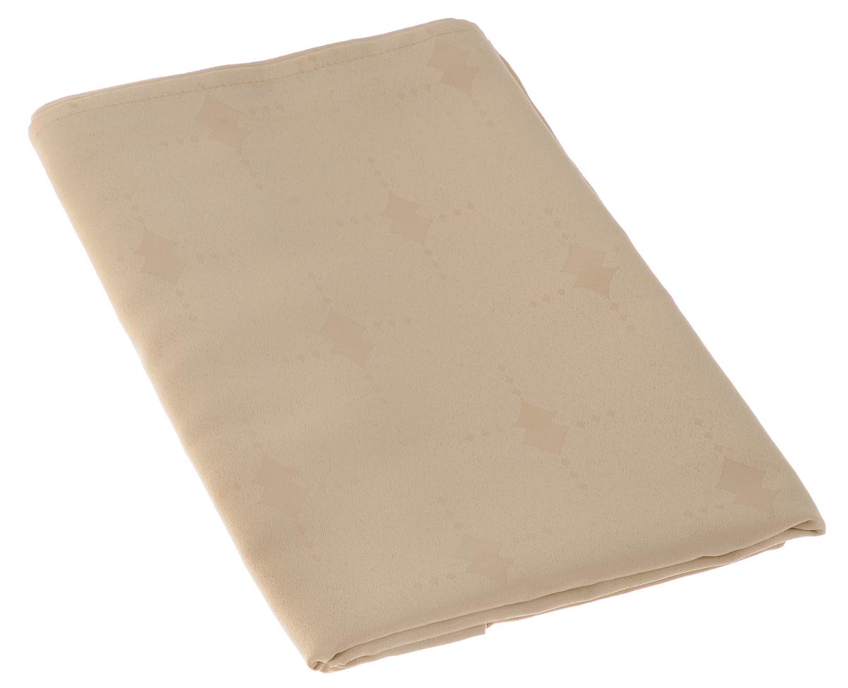 """Скатерть """"Schaefer"""", прямоугольная, цвет: бежевый, 160 х 220 см. 07507-408"""
