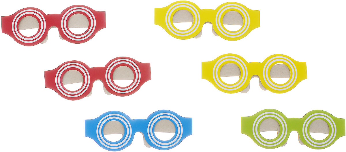 Action! Маска карнавальная Веселые очки 6 шт