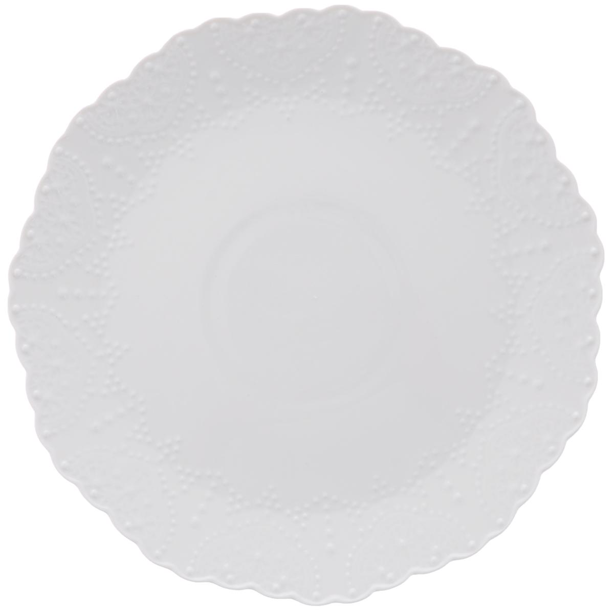 "Тарелка обеденная Walmer ""Vivien"", цвет: белый, диаметр 26 см"