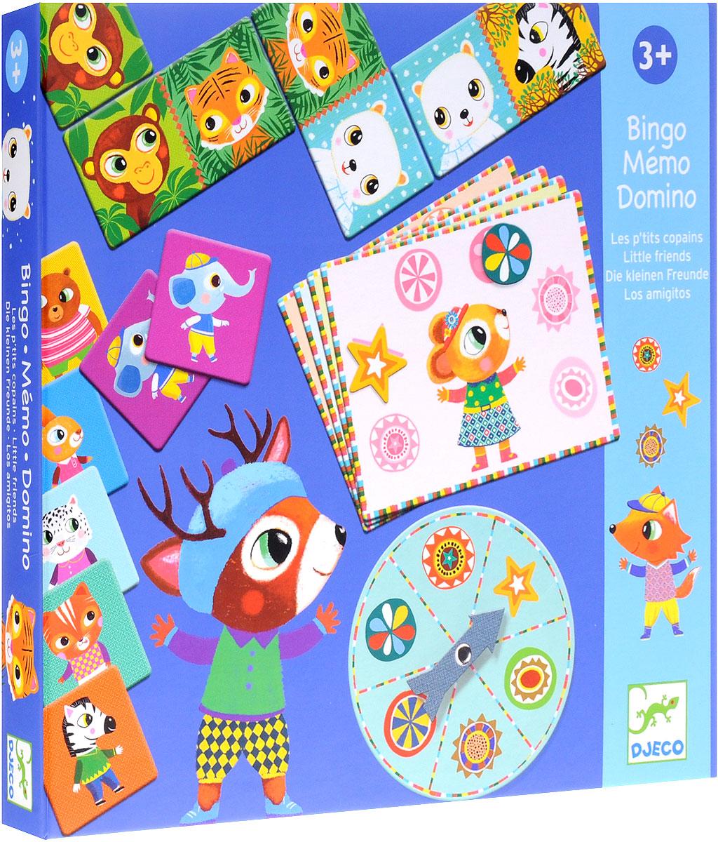 Djeco Обучающая игра Бинго Мемо Домино 3 в 1 подарочный набор 3 в 1 лото домино мемо союзмультфильм