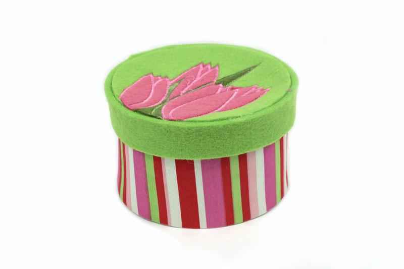 Декоративное украшение RTO Шкатулка, цвет: светло-зеленый, розовый декоративное пасхальное украшение на ножке home queen роскошное цвет зеленый высота 27 см