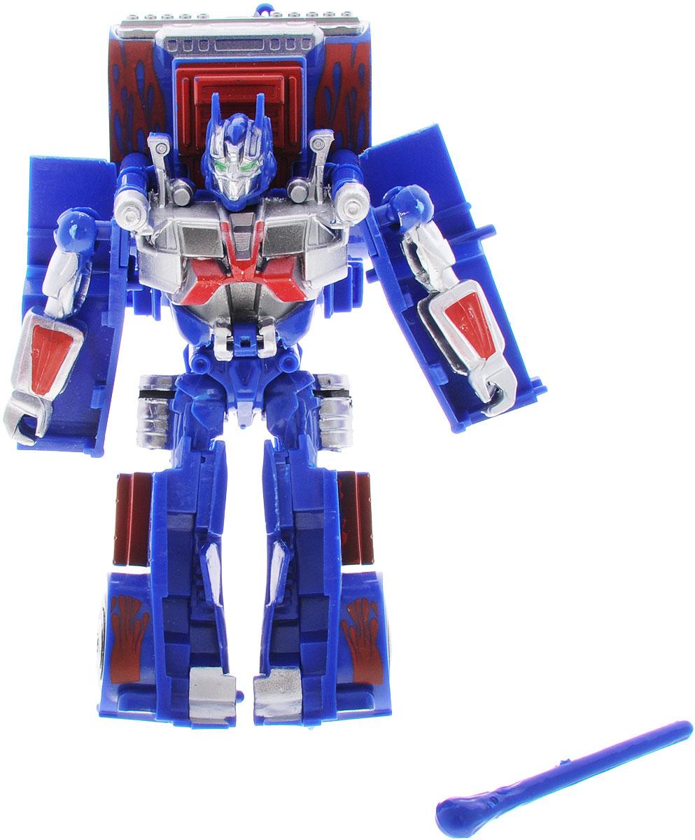лучшая цена Тилибом Робот-трансформер цвет синий красный