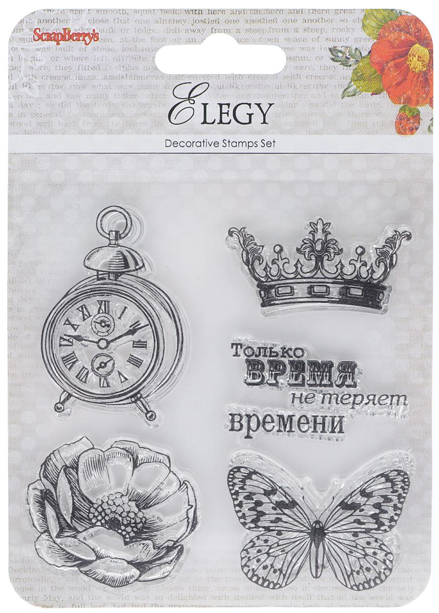 """Набор декоративных штампов ScrapBerry's """"Элегия. Время"""", 5 шт. 7714739"""