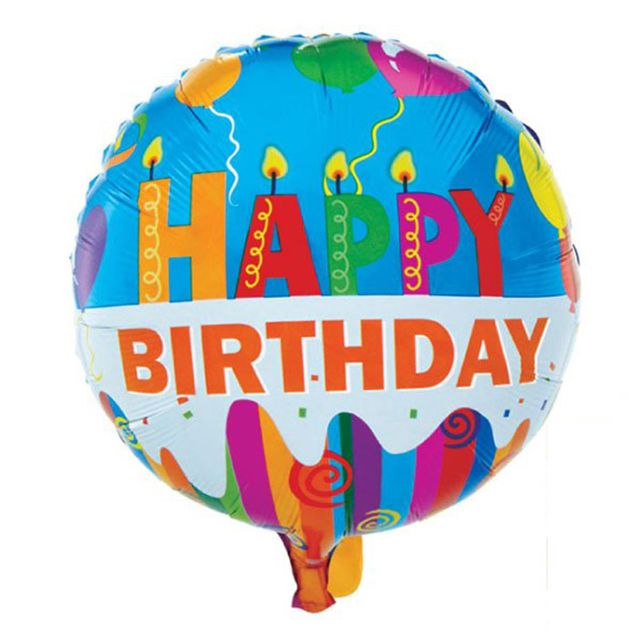 Action! Шар фольгированный Happy Birthday action шар фольгированный на палочке мотоцикл
