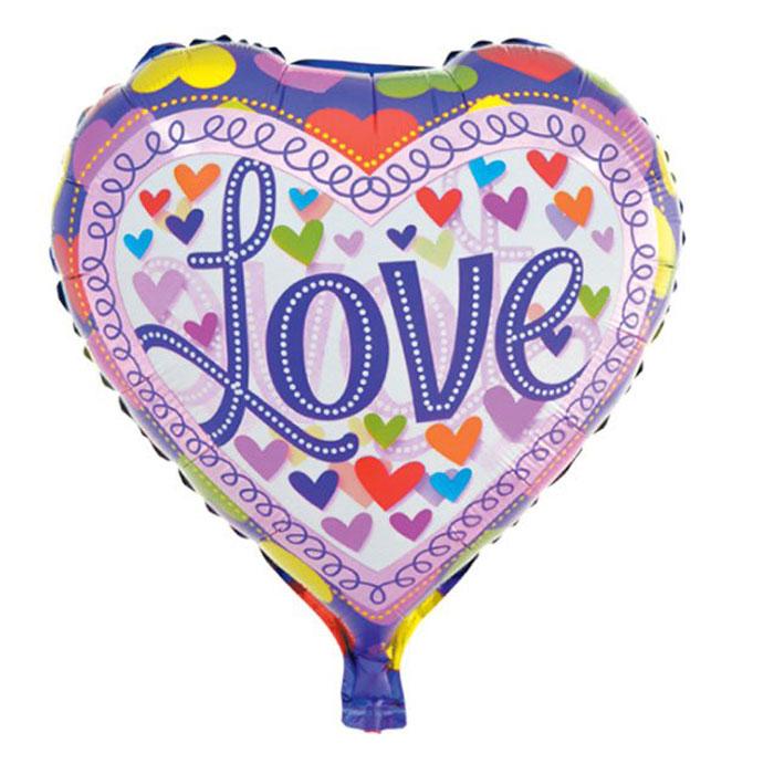Action! Шар фольгированный Love action шар фольгированный на палочке мотоцикл