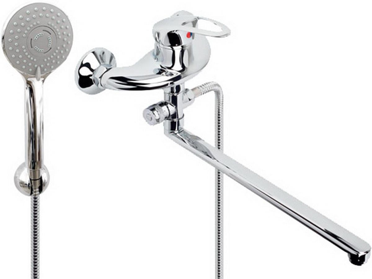 Argo смеситель для ванны и умывальника Lux Olio, d-40, картриджный, L образный излив 325 мм цены