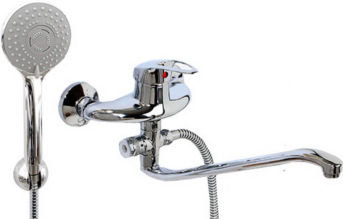 Смеситель для ванны и умывальника Argo Lux Olio, картриджный, S-образный излив цена