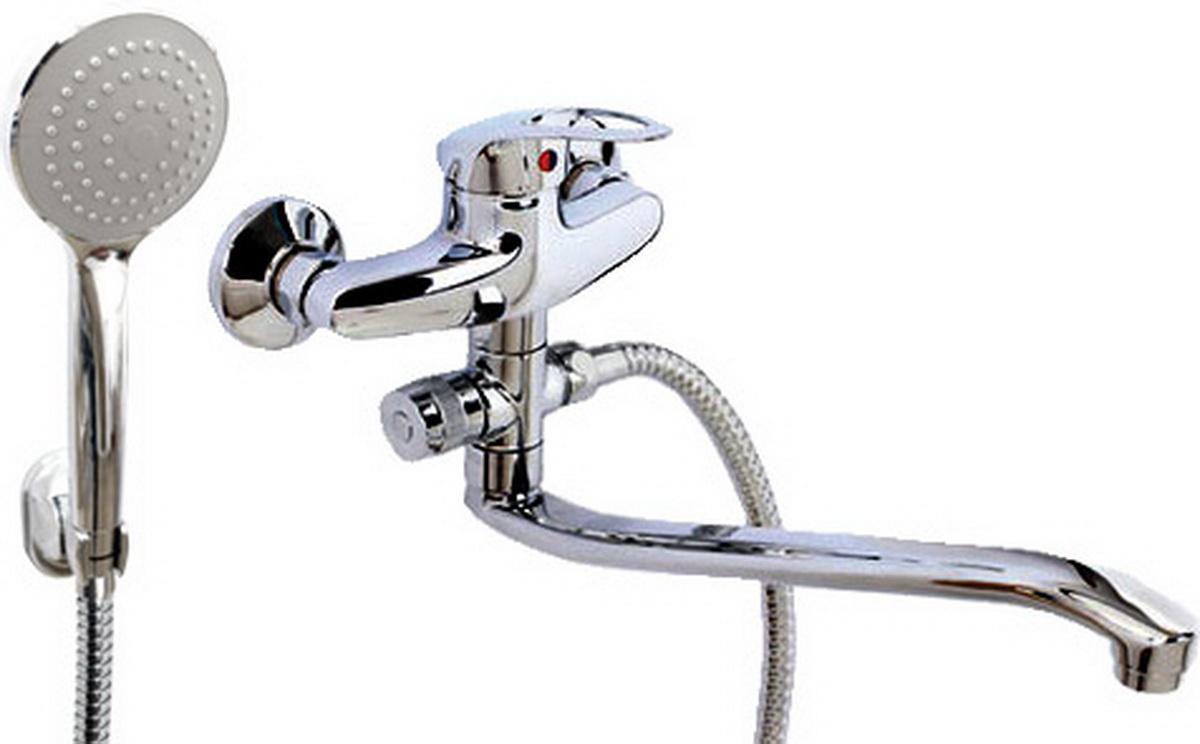 Argo смеситель для ванны и умывальника Olio, d-40, картриджный, S образный излив 295 мм argo смеситель для кухни olio короткий излив 185 мм d 40