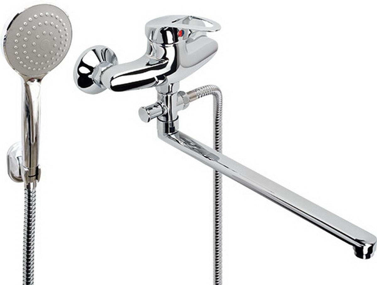 Argo смеситель для ванны и умывальника Olio, d-40, штоковый, L образный излив 325 мм argo смеситель для кухни olio короткий излив 185 мм d 40