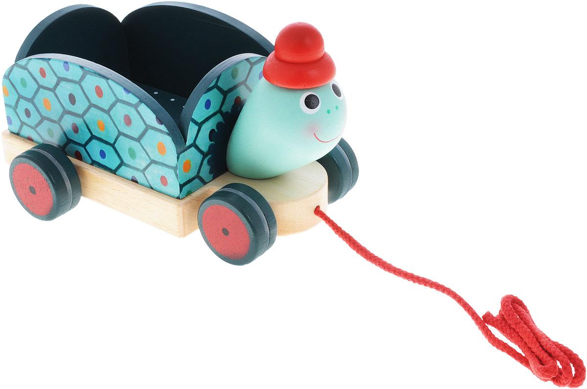 Djeco Игрушка-каталка Черепашка Клементин музыкальная игрушка в виде черепашки с кубиками черепашка умняшка с кубиками